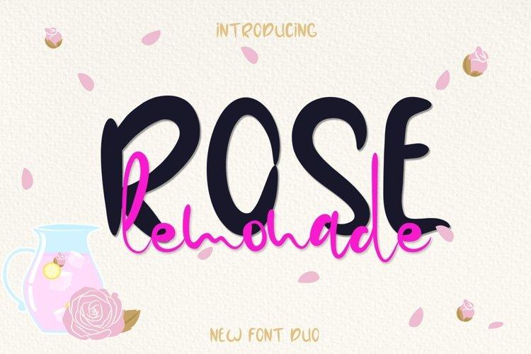 Web Font Rose Lemonade example image 1