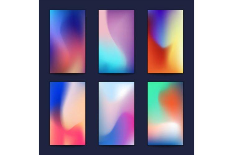 Abstract fluid 3d shapes vector trendy liquid colors backgro