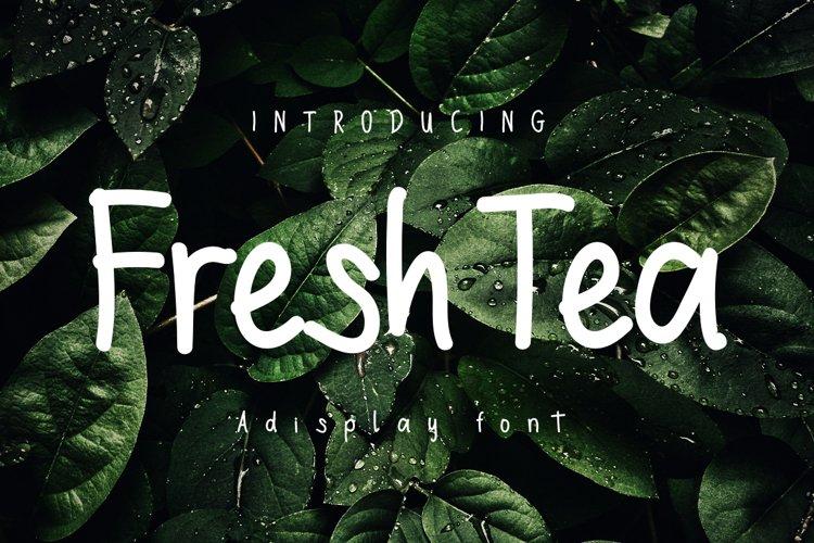 Freshtea| A Display Typeface