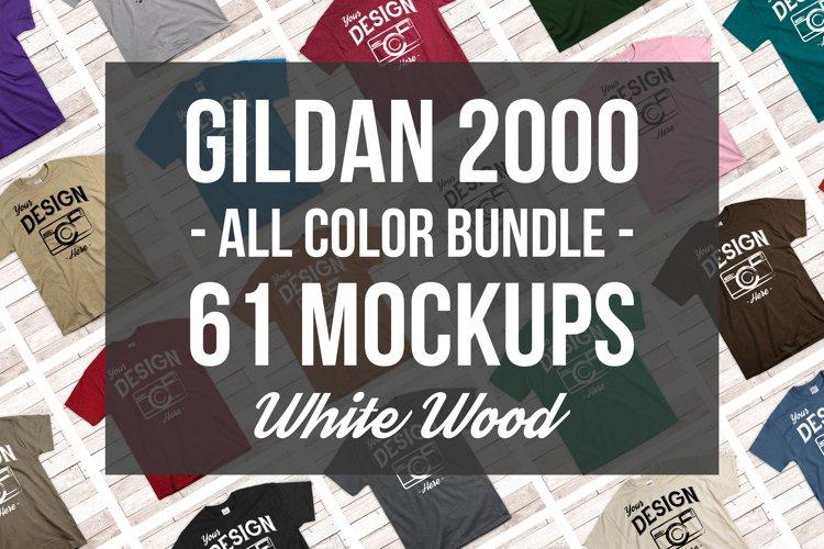 Gildan Mockup Bundle All Colors Mens Tshirt Mock Up Bundle example image 1