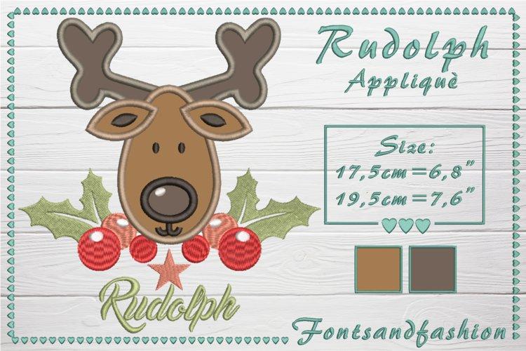 Rudolph_Appliquè example image 1