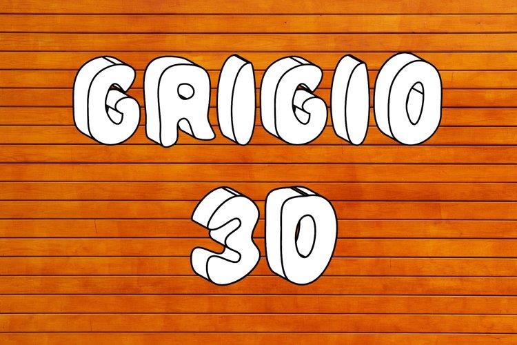 Grigio 3D SVG Color Font example image 1