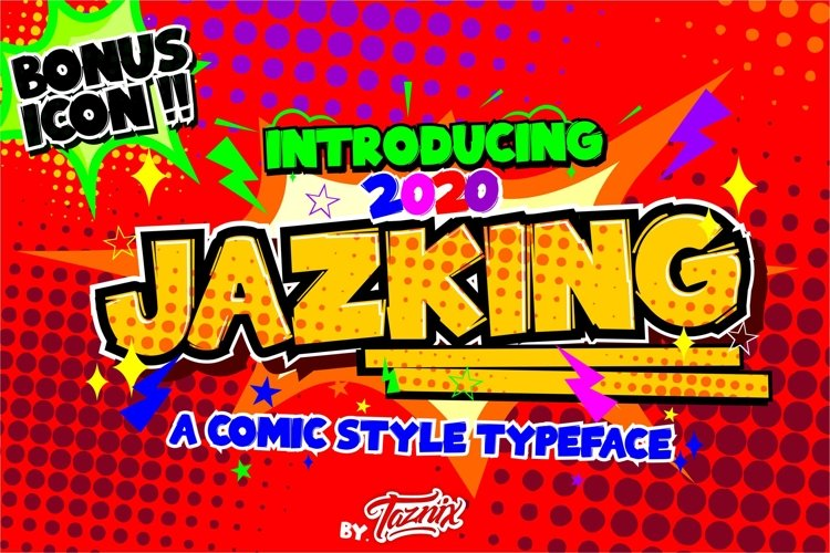 Jazking A Comic Typeface Bonus Icon example image 1