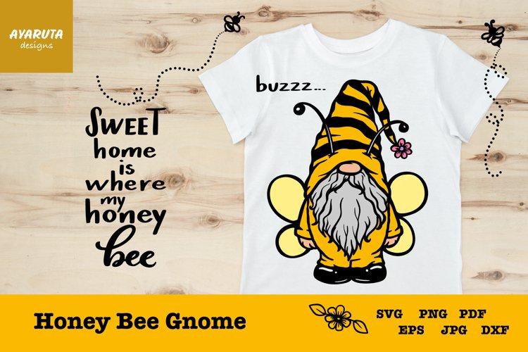 Honey Bee Gnome SVG, Bumblebee Farmhouse Summer Gnome