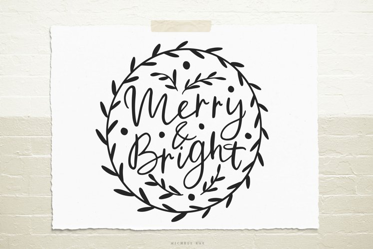 Handlettered Christmas quote svg cut file example image 1