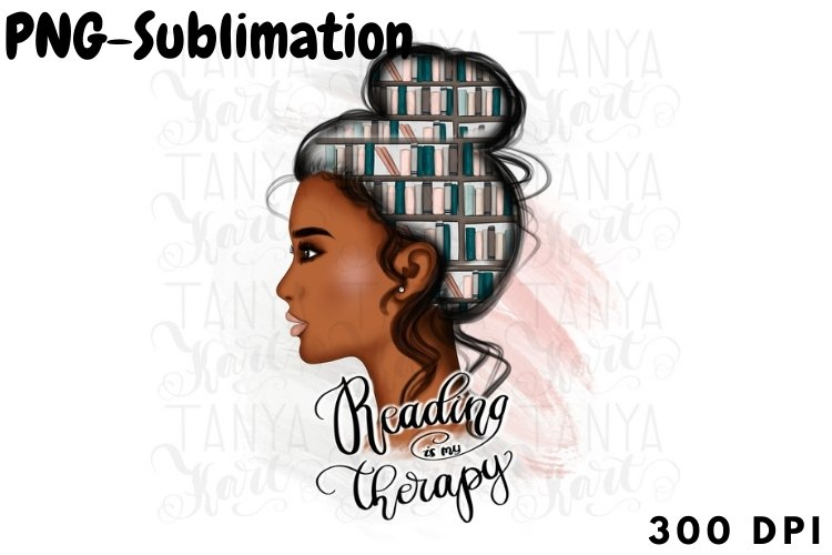 Reading Is My Therapy | African American example image 1