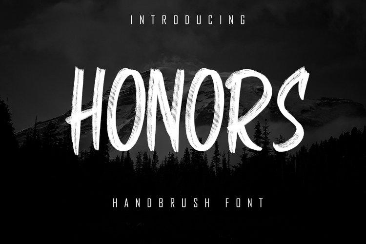HONORS - Handbrush Font example image 1