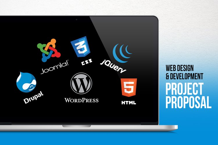 Web Design & Development Project Proposal PowerPoint Templat example image 1