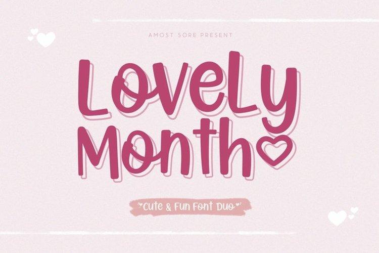 Lovely Month - Handwritten Font