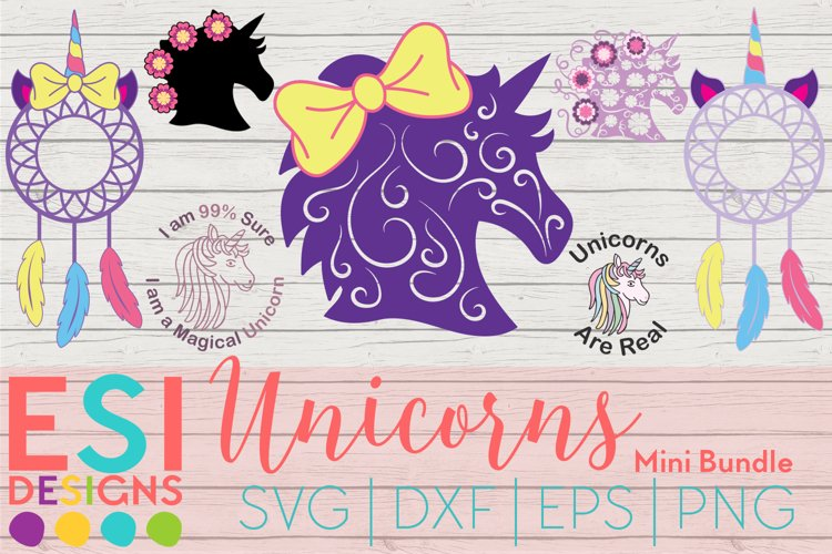 Unicorns Mini Bundle Cut files