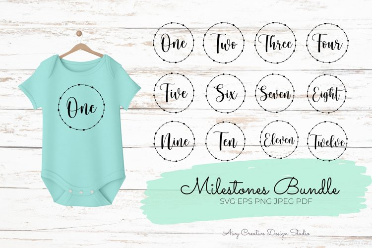 Baby Milestone SVG Bundle Monthly Milestone SVG