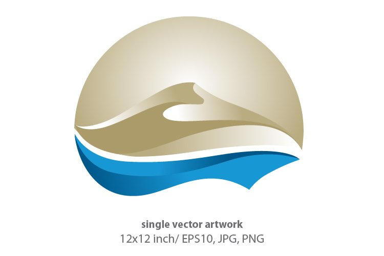 Golden Dune, SINGLE VECTOR ARTWORK example image 1
