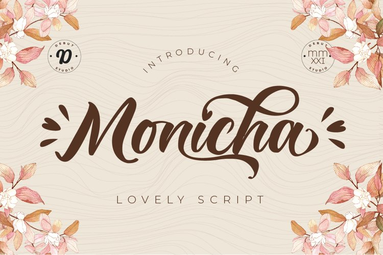 Monicha Script example image 1