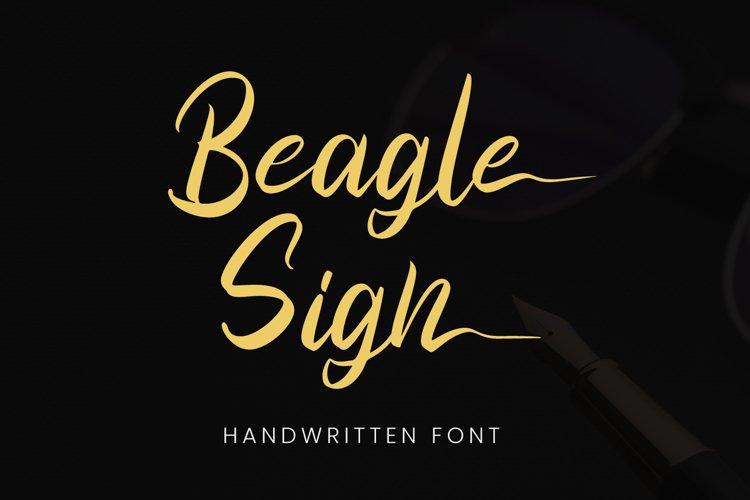 Beagle Sign - Signature Font example image 1
