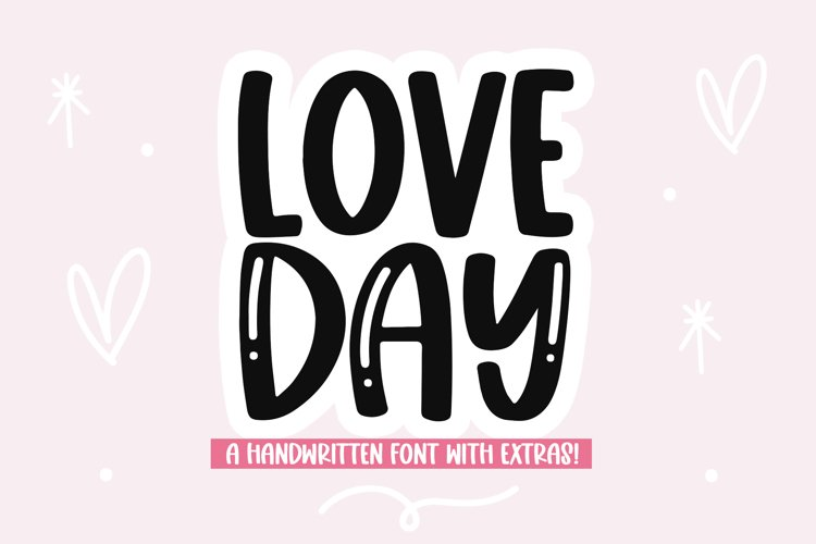Love Day - Cute Handwritten Font with Valentine Doodles! example image 1