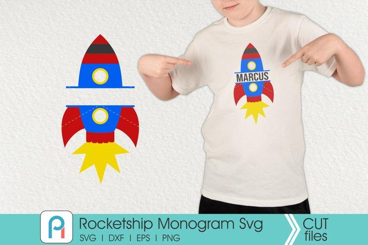 Rocketship Svg, Rocketship Monogram Svg, Rocketship Clip Art
