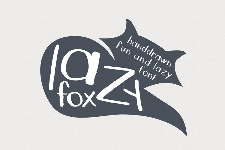 LazyFox Hand Drawn Font example image 1