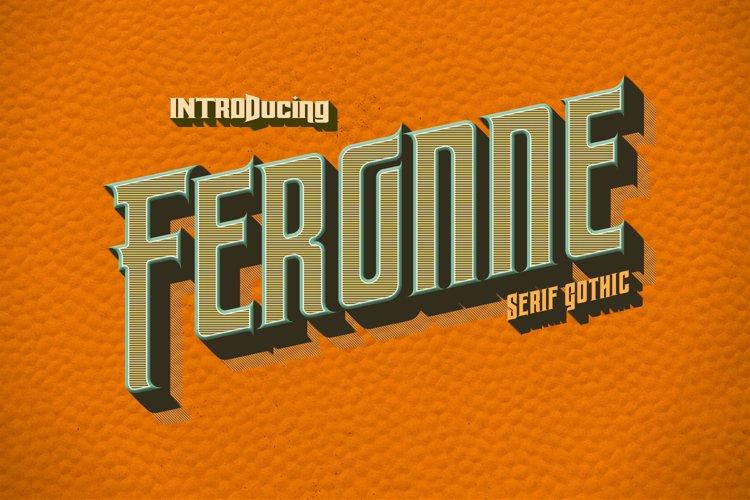 Feronne Serif Gothic Family example image 1