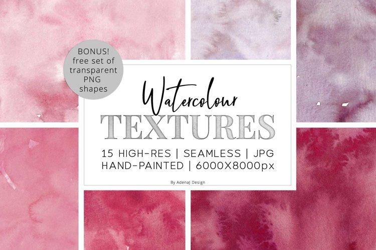 15 Huge Seamless Pink & Grey Watercolor Textures example image 1