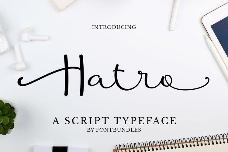 Web Font Hatro example image 1