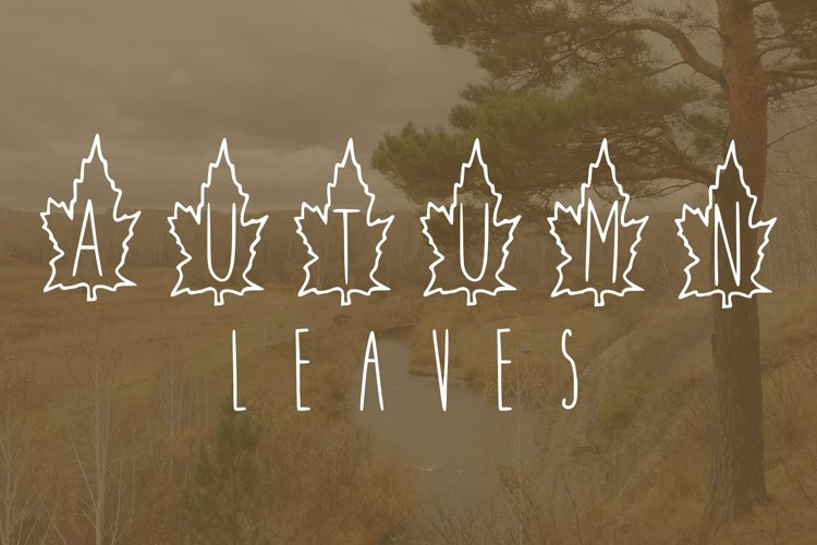 Autumn leaves font example image 1