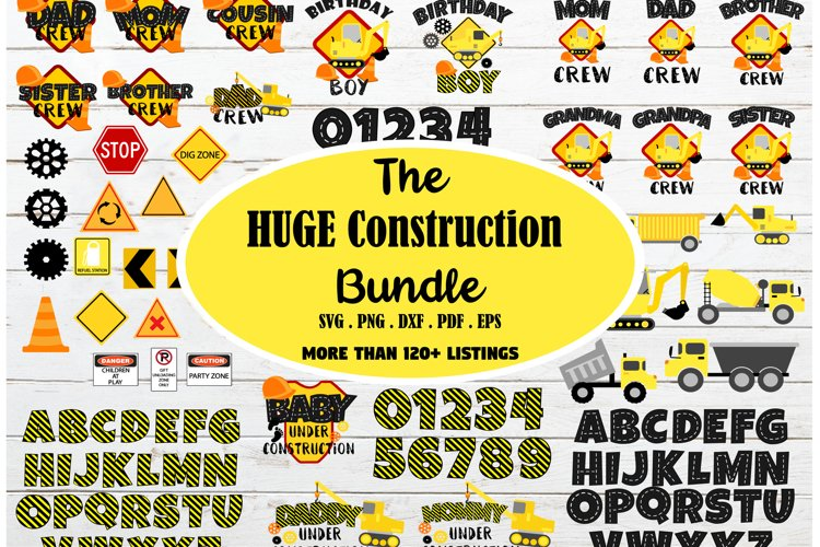 HUGE construction theme bundle SVG, construction birthday