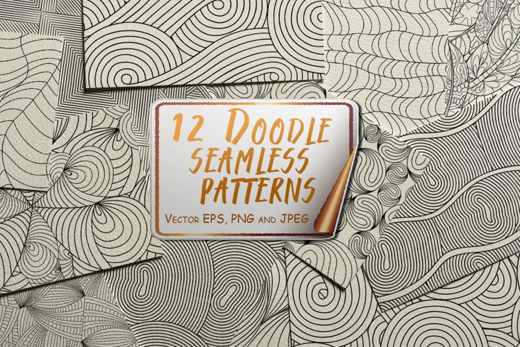 Doodle Seamless Patterns example image 1