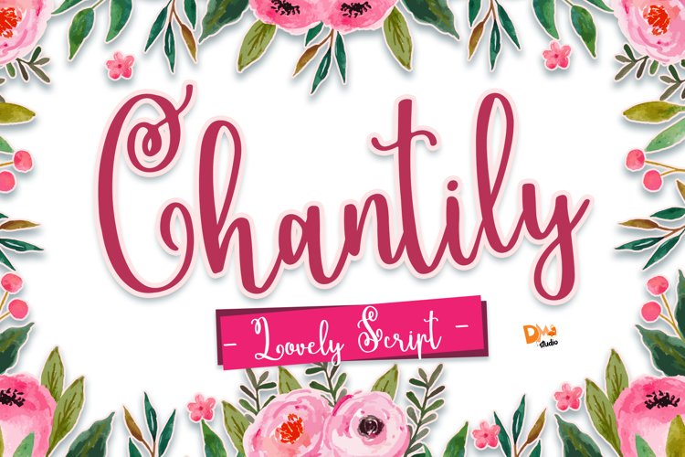 Chantily - Lovely Script Font example image 1