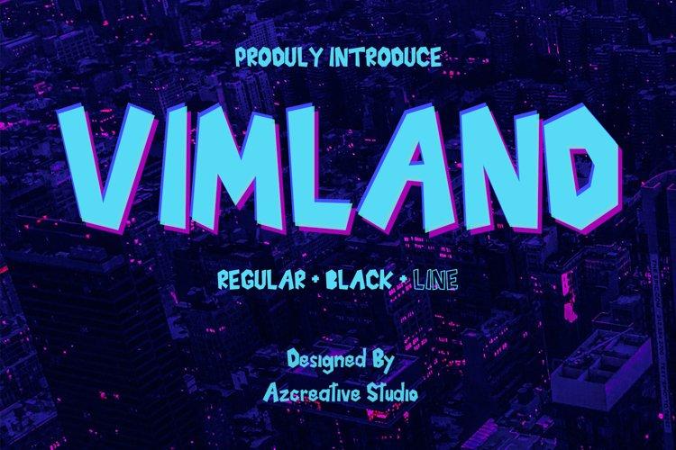Vimland - With 3 Style Font example image 1