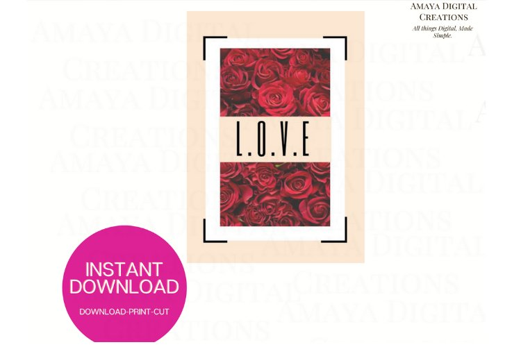 Love PDF Card E card,Card Instant Down example image 1