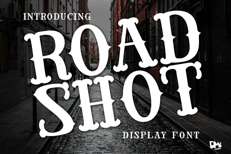 Road Shot - Display VIntage Font example image 1