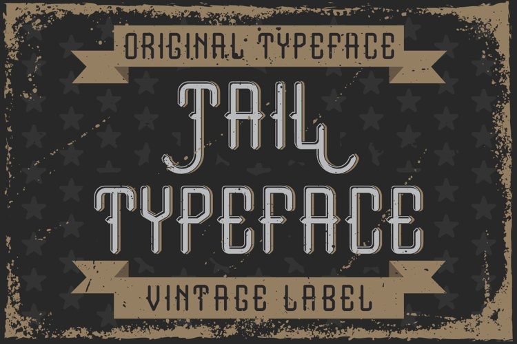 """Handcrafted font """"Tail"""" example image 1"""