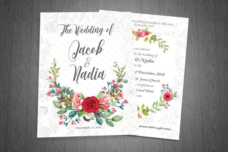 Floral Wedding Invite