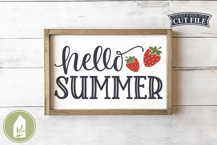 Hello Summer SVG, Summer Front Door Sign SVG example image 1