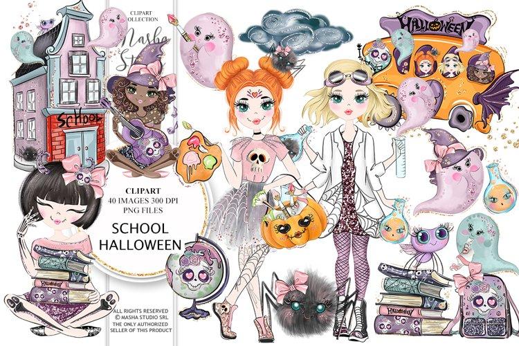School Halloween Clipart example image 1