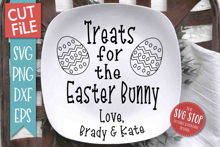Easter Bunny Tray SVG, PNG, DXF, EPS