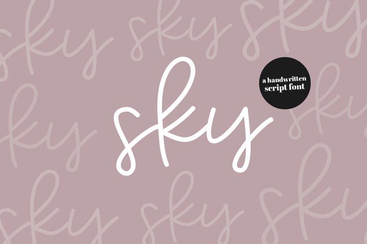 Sky - Handwritten Script Font example image 1