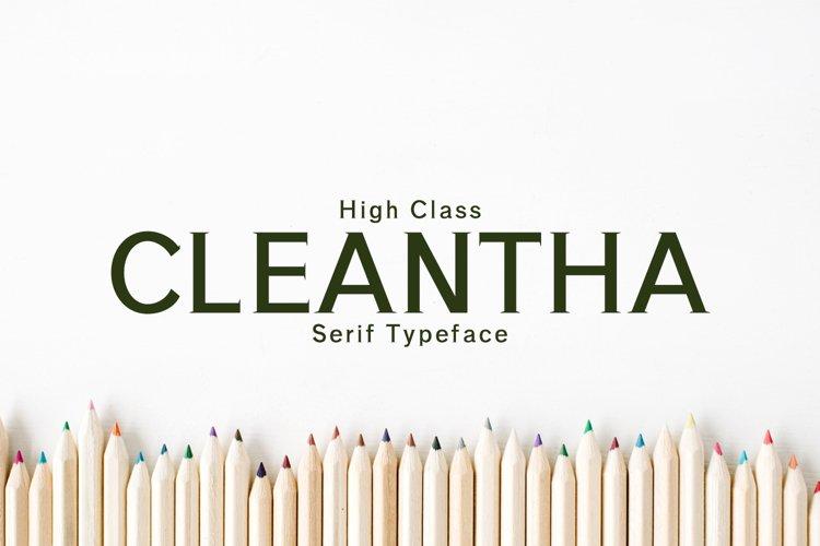 Cleantha Serif Typeface example image 1