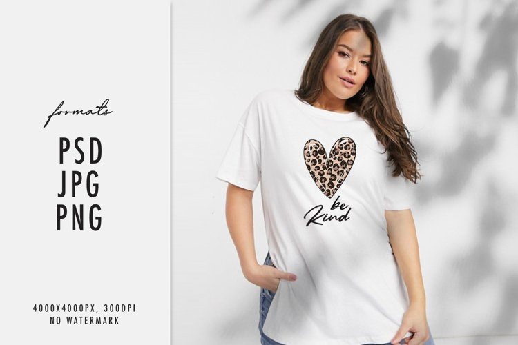 Heart Be kind sublimation t-shirt Cheetah leopard print example image 1