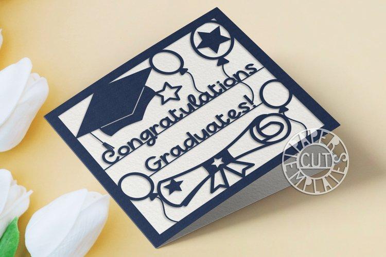 SVG Graduation card for laser cut, Cricut, Silhouette Cameo.
