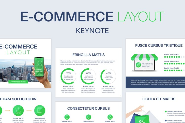 E-Commerce Keynote Template example image 1