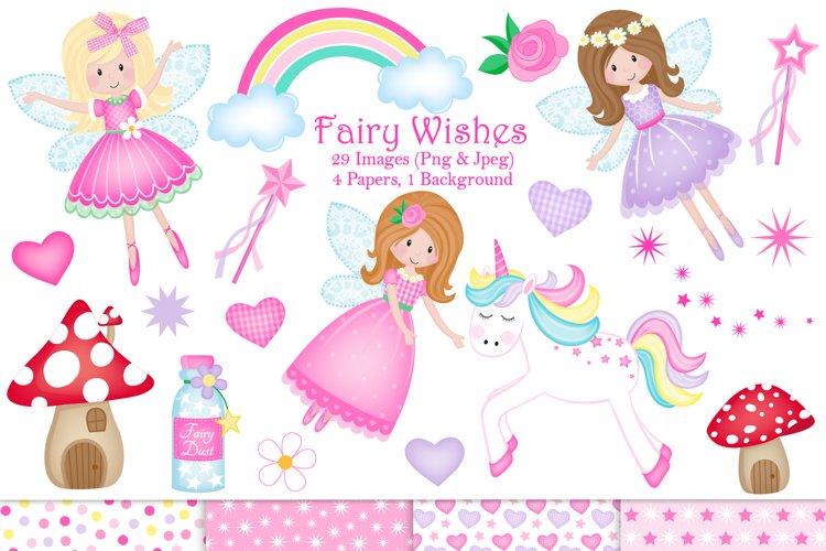 Fairy clipart,Unicorn clipart,Fairy graphics   Illustrations
