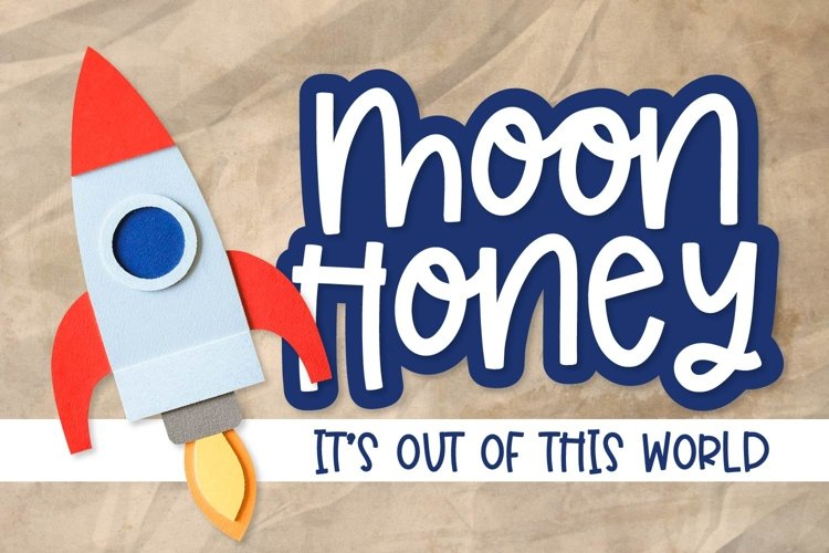 Moon Honey - An Out of this world thick Sans Serif example image 1
