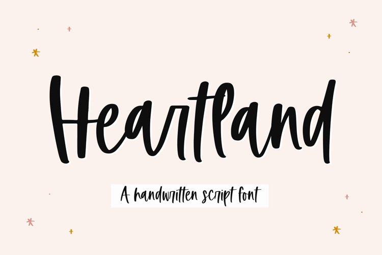 Heartland - A Handwritten Script Font example image 1