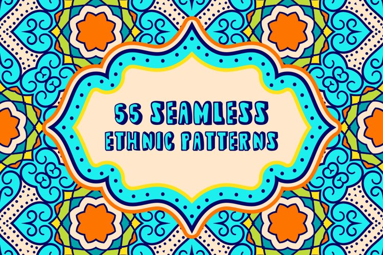 55 Ethnic Seamless Pattern Set example image 1