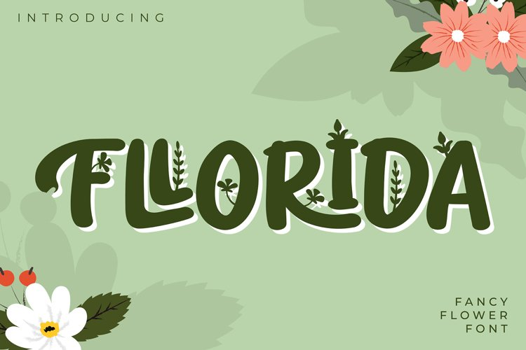 Fllorida | Fancy Flower Font example image 1