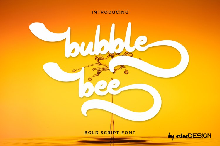 bubble bee font example image 1