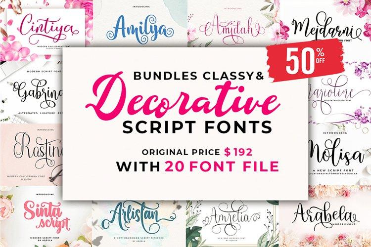 Bundles Classy & Decorative Script Fonts example image 1