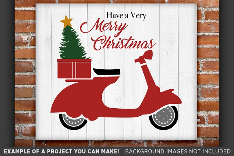 Scooter SVG - Have a Merry Christmas Scooter SVG - 32 example image 1