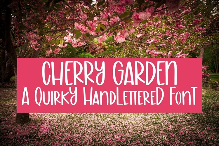 Web Font Cherry Garden - A Quirky Handlettered Font example image 1